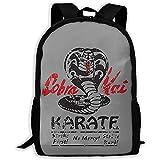 sghshsgh Bolsa para Laptop Bookbag Lightweight Cobra Kai Printed School Backpack Water...