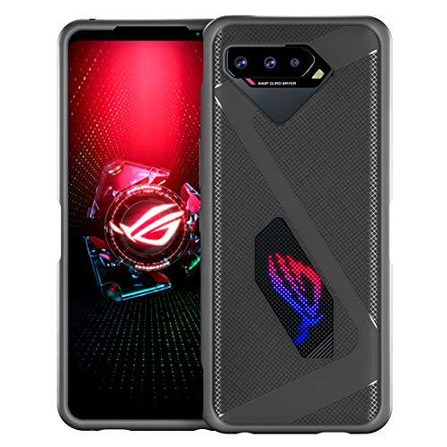 DDJ Funda para ASUS ROG Phone 5 Ultra Slim y posee buena disipación de calor Funda de teléfono compatible con ROG Phone 5 (ROG Phone 5, gris)