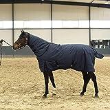 JUEJIDP Coperta Invernale con Fodera in Pile, Traspirante Cinghie Incrociate e Cordoncini per Gambe, Sciarpa di Cotone Inverno della Sciarpa Equestrian,125