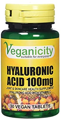 Veganicity Hyaluronic Acid 100mg Joint and Anti-Ageing Supplement - 30 Tablets by Health + Plus Ltd