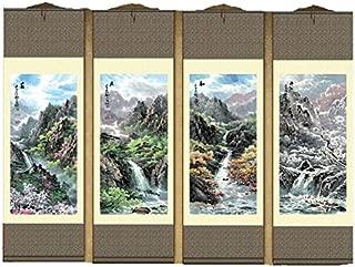 Grace Art Asian Wall Scroll, Set of 4, Four Seasons