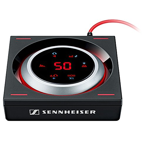 Sennheiser GSX 1200 PRO professioneller Gaming-Audioverstärker, schwarz/rot