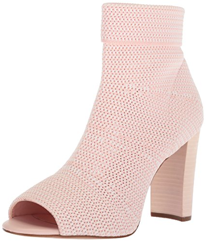 Avec Les Filles Women's Mariah Heeled Sandal, avec Pink/White Stretch Knit, 5 M US