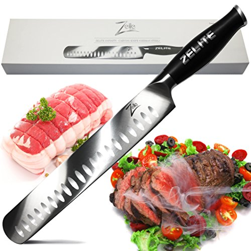 Zelite Infinity Slicing Carving Knife 12 Inch - Comfort-Pro Series - German High Carbon Stainless...