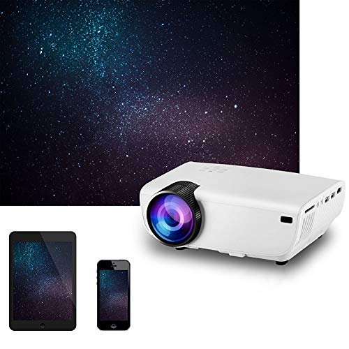 Multifunctionele Portable Startpagina Beamer, Ondersteuning Smart Phone Screen, home cinema projector videoprojector, SUB HDMI VGA Multimedia Player,White
