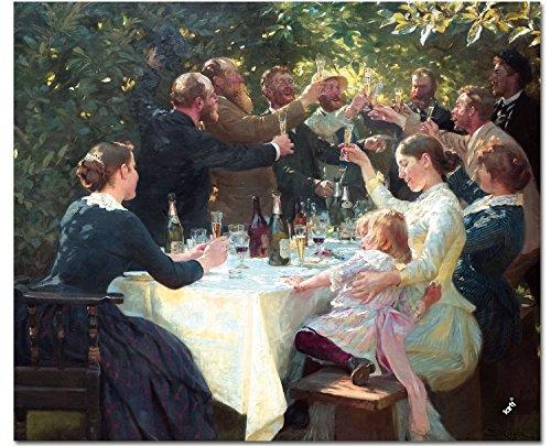 1art1 Peter Severen Kroyer - Hip, Hip, Hurra! Künstlerfest In Skagen, 1888 Mauspad 23 x 19 cm