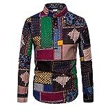 (A06,XL)七分袖シャツ 綿麻シャツ シャツ メンズ リネンシャツ 夏服 薄手 立襟 スリム ファション カジュアルシャツ