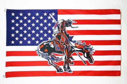 AZ FLAG Drapeau USA avec Cheval 150x90cm - Drapeau américain - Etats-Unis 90 x 150 cm - Drapeaux
