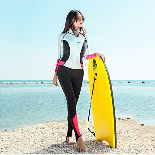 P & PDN Modesty Jumpsuit Badpak voor meisjes en dames, surpak met lange mouwen, UPF ≥ 50 + zwemkostuum, bescheiden badmode voor dames