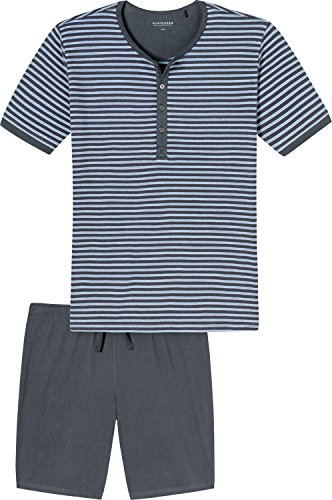 Schiesser Shorty Single-Jersey grau/hellblau Größe 52
