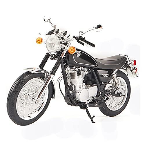 Boutique 1/12 para Yam┐AHA SR400 Simulación De Aleación Motocicleta Locomotora Estática Modelo Decoración Colección para Adultos (Color : Negro)