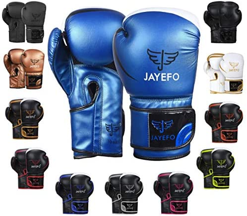 Jayefo Glorious Boxing Gloves Muay Thai Kick Boxing Leather Sparring Heavy Bag Workout MMA UFC product image