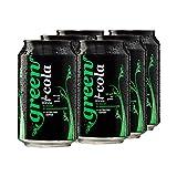 Green Cola Bebida sin azúcar, sin asfatama, sin conservantes, solo aromas naturales, incluye depósito (lata de 0,33 l, 6 unidades)