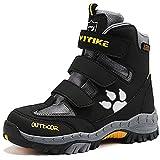 Botas de nieve Zapatos de Senderismo para Niños Botas de senderismo(5 Gris/Amarillo,25 EU)