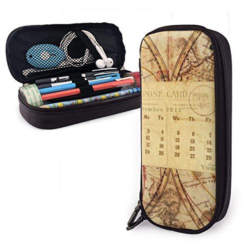 Kartenkalender PU-Ledermäppchen, Stifttasche mit großer Kapazität, langlebige Schreibwaren-Organizer