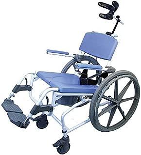 Tilt Shower Commode Bath Toilet wheelchair with 24