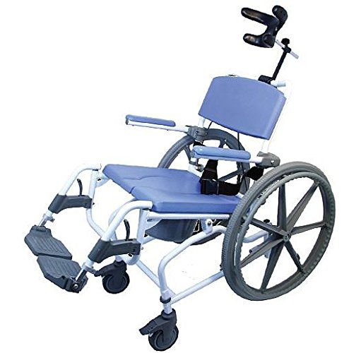 Tilt Shower Rehab Commode Bath Toilet Wheelchair with 24
