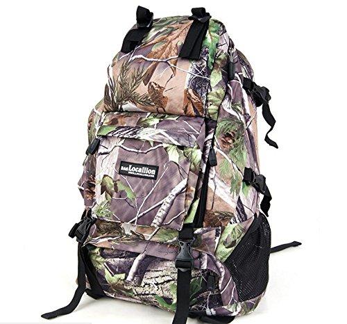 Sac à dos sac à dos sac à dos d'escalade de voyage escalade sacs voyages plein air hommes et femmes , leaves camouflage