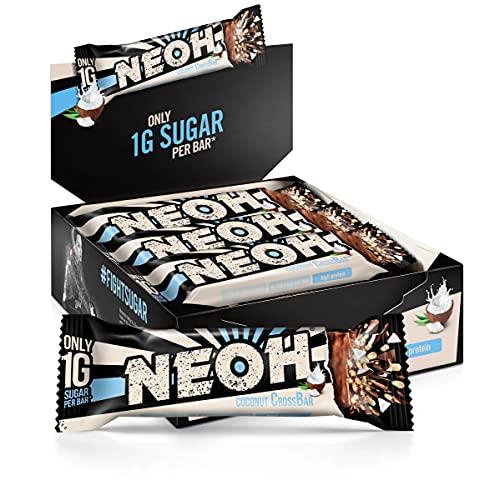 NEOH Lowcarb baton proteinowy kokosowy | 1 g cukru / 97 kcal / 26% białka na batonik | bez dodatku cukru | opakowanie promocyjne 12 x 30 g | orzech kokosowy