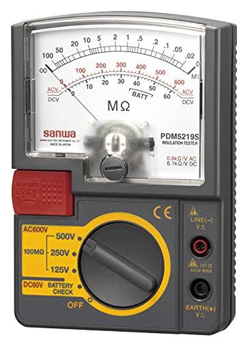SANWA アナログ絶縁抵抗計 500V/250V/125V PDM5219S