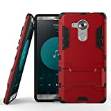 DWAYBOX Huawei Mate 8 Heavy Duty Case 2 in 1 Hybrid Armor Hard Back Case Cover for Huawei Mate 8 6.0inches (Marsala Red)