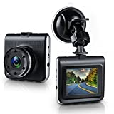 Dash Cam, Ezone Full HD 1080P DVR Dash Camera 170 Degree Wide Angle Dash Camcorder with Night Vision,G-Sensor,Loop Recording, 2.2' TFT Display