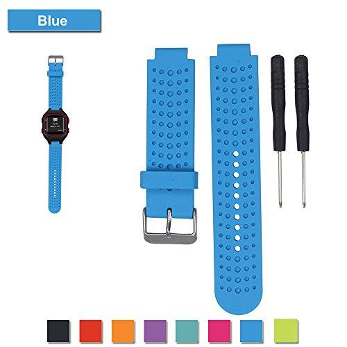 Für Garmin Forerunner 25 GPS Laufen Uhrenarmband, Bemodst Ersatz Zubehörteil Armband Weich Silikon U Bemodst (Blau/Männer)