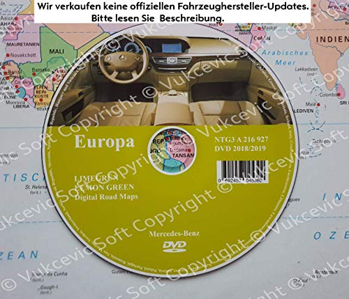 Mercedes Comand APS NTG3 2018/2019 DVD LIMEGRUN Lemon Green