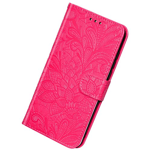 Best Price Herbests Compatible with Samsung Galaxy A70 Wallet Case Lace Mandala Flower Embossed Prem...