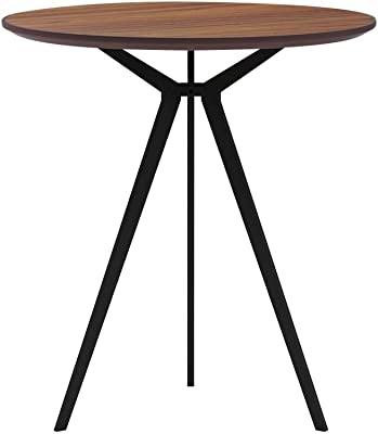 Conference Room Tables Office Products Kitchen Table With 3 Legs Dining Table For Living Room Office Waterproof And Scratch Resistant Desktop Easy Assembly 27 5 Inch Walnut Small Round Conference Table