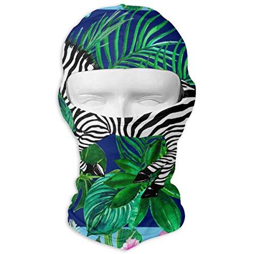 NOBRAND Full Face Masker Sjaal Ontwerp Met Tropische Bladeren Hood Zonnebrandmasker Dubbele Laag Koud Voor Mannen En Vrouwen