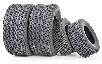Set of 4 New WANDA Lawn Mower Turf Tires 16x6.5-8 Front & 23x10.5-12 Rear /4PR -13019/13049