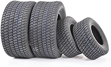 Set of 4 New Lawn Mower Turf Tires 15x6-6 Front & 20x10-8 Rear /4PR -13016/13040