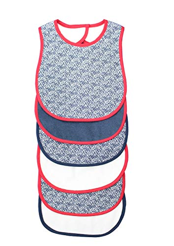 BornCare Baby Bibs Super Absorbent 6 Pack Waterproof with snap Closure Zero Plus Months 12 x 8 inches