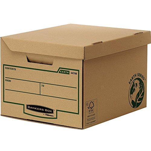 Bankers Box 4472205 Earth Series Scatole Archivio Maxi con Coperchio Ribaltabile, 10 Pezzi