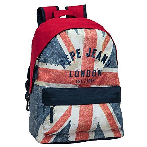 Pepe Jeans London Bolsa de Viaje para Niño, Diseño Bandera, 22 Lt, Color Azul