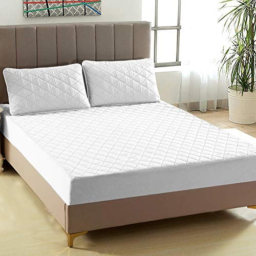 Xiaomizi Solid Color Waterproof Fitted Sheet, Bedspread, Diaphragmatic Mattress Cover, Thickened Cotton Clip