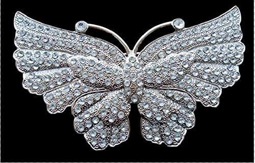 Glittering San Antonio Mall Glitter Rhinestone Big Flying Buckle OFFicial shop B Belt Butterfly