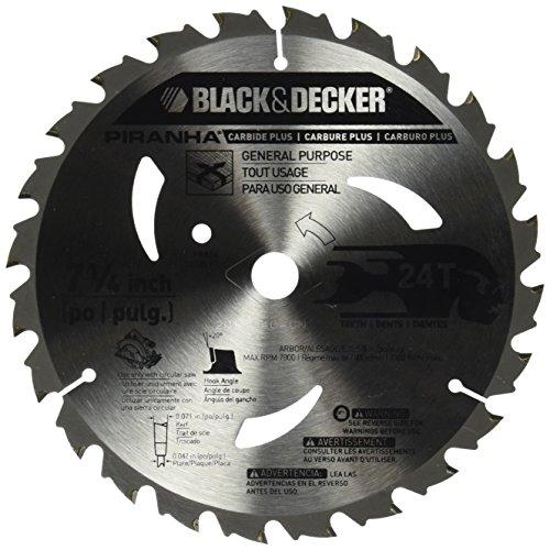 BLACK+DECKER Pr824 24T Hoja de sierra de carburo de 7-1/4 pulgadas