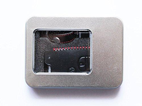『トヨタ TOYOTA プリウス アクア スマートキーカバー 本革ケース ブラック A/Cボタン有 3273 ec-onlineshop … (ブラック A/Cボタン有)』の2枚目の画像