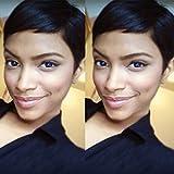 Hotkis Cheveux humains des Perruques pour femme noire Cheveux courts Perruque Pixie avec des Perruques pour femme (Hts701-nc)
