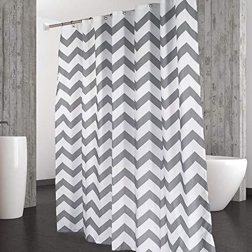 LinTimes Grauer Duschvorhang, maschinenwaschbarer, wasserabweisender, schimmelresistenter Duschvorhang aus Polyester, 180 x 180 cm (72 x 72 Zoll)