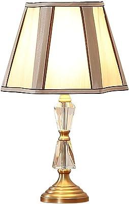Lámpara De Mesa Moderna De Cristal Minimalista Plateado Oro Lámpara De Escritorio De Hierro Forjado Lámpara De Tela Sombra Lámpara De Cabecera para Sala De Estar Hotel Villa, Φ31cm H47cm E27