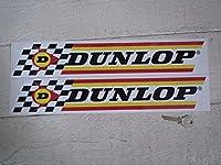 Dunlop Check & Stripes Stickers ダンロップ ステッカー シール デカール 400mm × 70mm 2枚セット [並行輸入品]