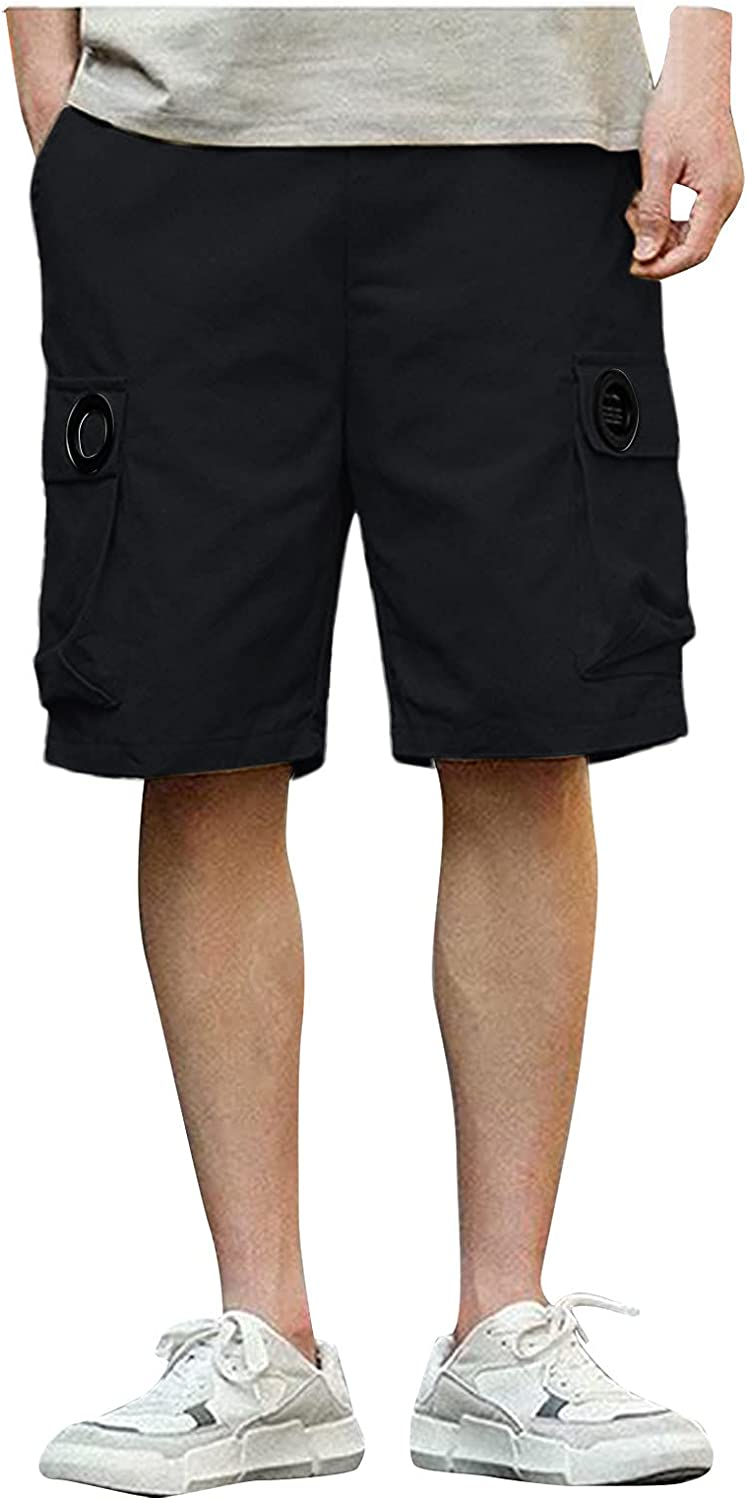 LEIYAN Mens Cargo Shorts Casual 5 Inch Inseam Loose Fit Waist-Relaxed Classic Active Gym Workout Lounge Shorts