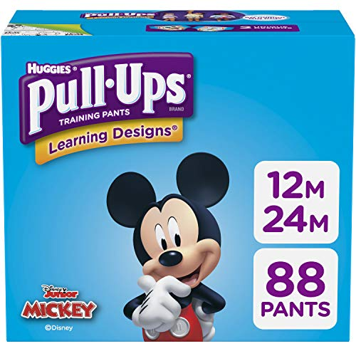 Pull-Ups Learning Designs Potty Training Pants for Boys, 12-24 Months (14-26 lb.), 88 Ct. (Packaging May Vary)