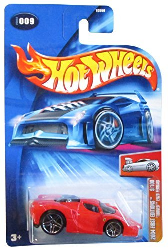 Hot Wheels 'Tooned Enzo Ferrari First Edition 2004 #009 #9 RED FE 9/100 1:64 Scale