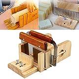 Tiptiper Seifenform, 3 stücke Professionelle Einstellbare Handgemachte Holz Seifenform Cutter...