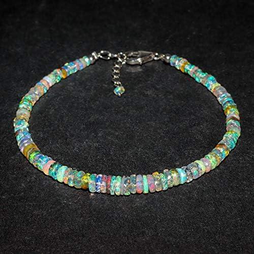A Mix Natural Ethiopian Welo Australian Opal Stone Full Beads Dainty Bracelets for Women Birthstone product image