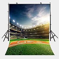 HD 5x7ftサッカーフィールドの背景の混雑した群衆サッカーフィールドスポーツシリーズの写真の背景とスタジオの写真の背景の小道具LYLX294